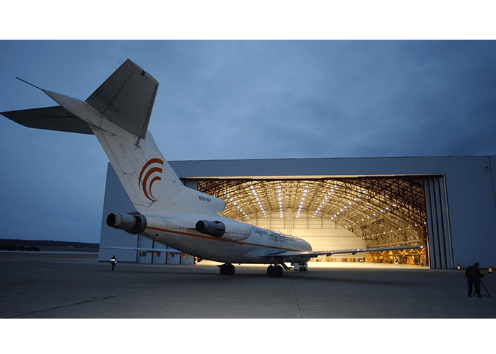HANGAR AT NIGHT